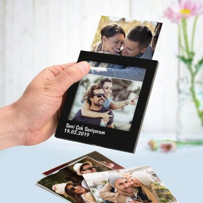 Kişiye Özel Siyah Polaroid Fotoğraf Albümü - Thumbnail