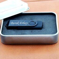 Kişiye Özel Siyah USB Bellek - Thumbnail