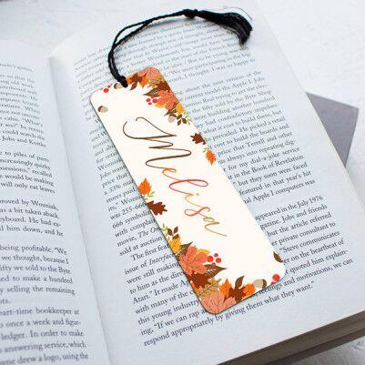 - Kişiye Özel Sonbahar Motifli Kitap ayracı