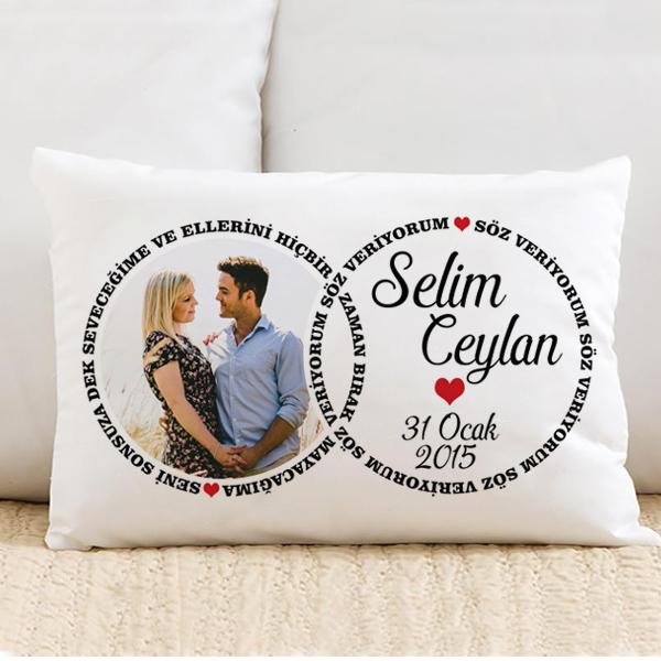 Kişiye Özel Sonsuz Aşkımız Yastık