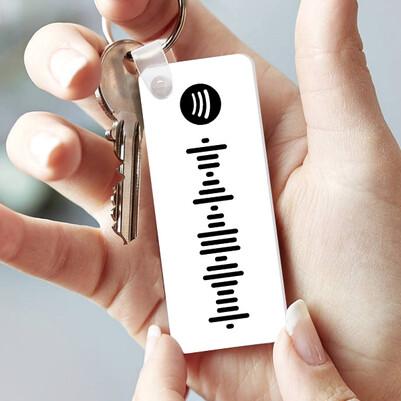 - Kişiye Özel Spotify Ses Dalgası Anahtarlık