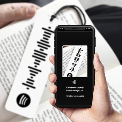 Kişiye Özel Spotify Ses Dalgası Kitap Ayracı - Thumbnail