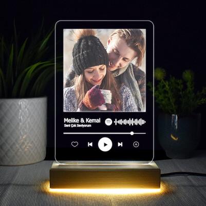 - Kişiye Özel Spotify Ses İzi 3d Led Lamba