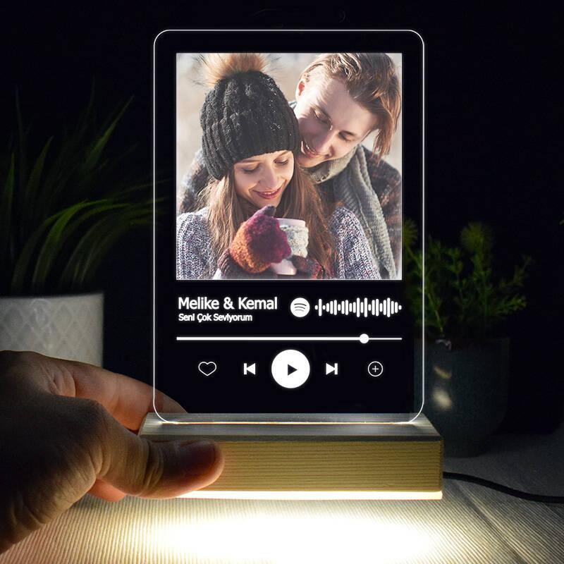 Kişiye Özel Spotify Ses İzi 3d Led Lamba