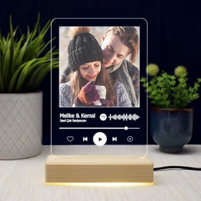 Kişiye Özel Spotify Ses İzi 3d Led Lamba - Thumbnail