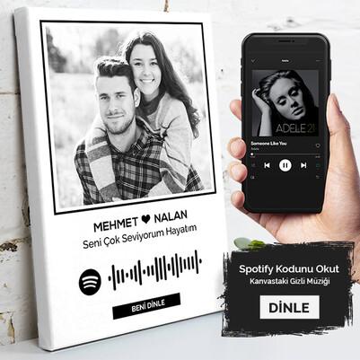 - Kişiye Özel Spotify Ses İzi Kanvas Tablo