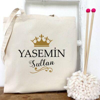 - Kişiye Özel Sultanlara Yakışır Bez Çanta