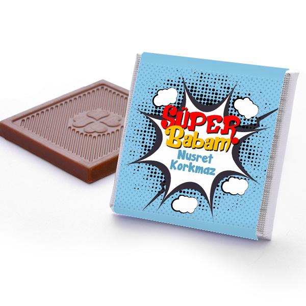 Kişiye Özel Süper Babam Çikolata