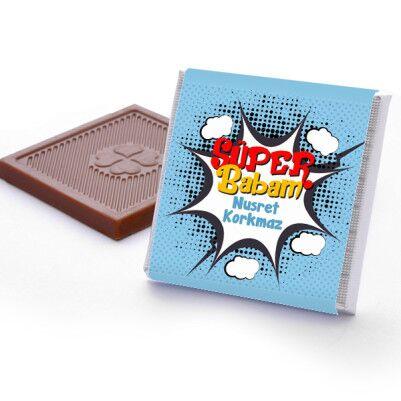 Kişiye Özel Süper Babam Çikolata - Thumbnail