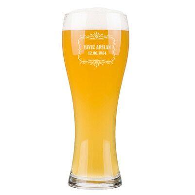 - Kişiye Özel Tarihli Uzun Bira Bardağı