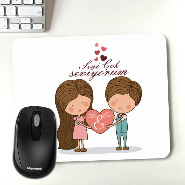 Kişiye Özel Tasarım Romantik Mousepad