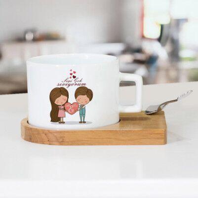 - Kişiye Özel Tasarım Sevgili Çay Fincanı