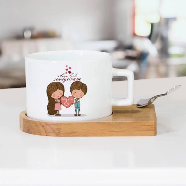 Kişiye Özel Tasarım Sevgili Çay Fincanı