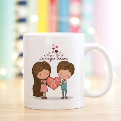 - Kişiye Özel Tasarım Sevgili Kupa Bardağı