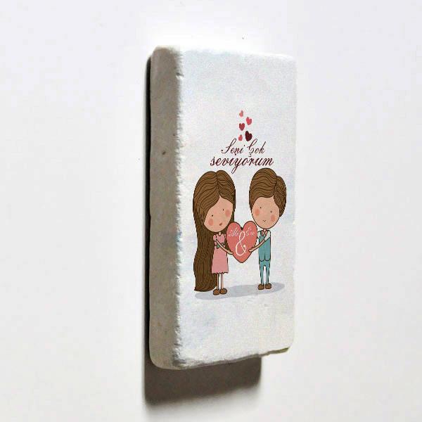 Kişiye Özel Tasarım Taş Buzdolabı Magneti