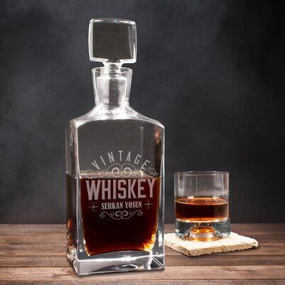- Kişiye Özel Vintage Viski Şişesi