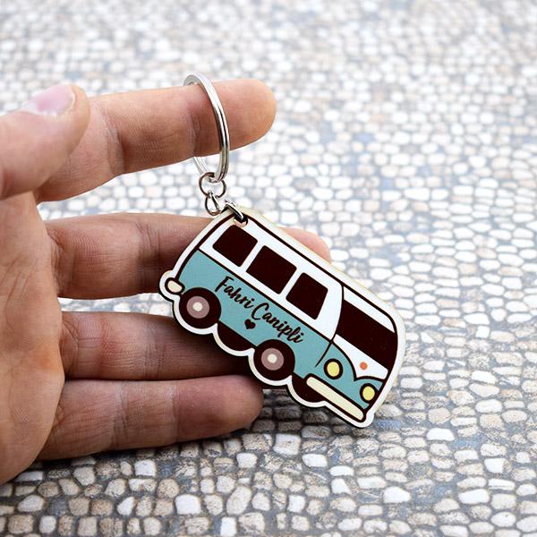 Kişiye Özel Vosvos Minibüs Anahtarlık