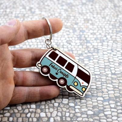 Kişiye Özel Vosvos Minibüs Anahtarlık - Thumbnail