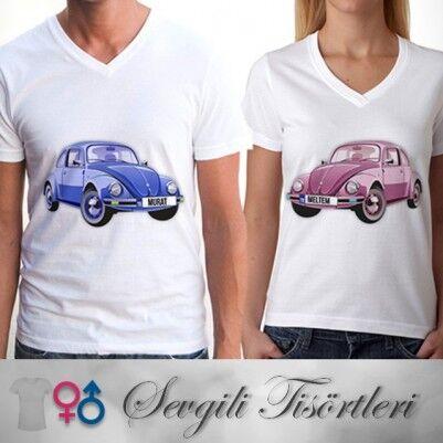 - Kişiye Özel Vosvos Sevgili Tişörtleri