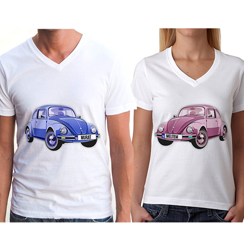 Kişiye Özel Vosvos Sevgili Tişörtleri
