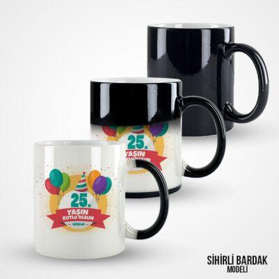 Kişiye Özel Yaş Günü Kupa Bardağı - Thumbnail