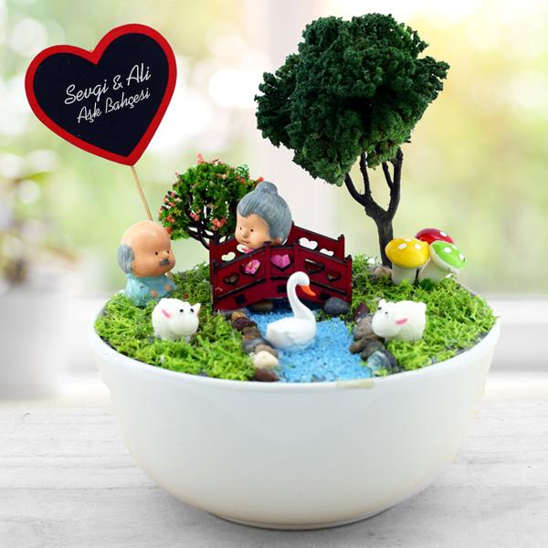 Kişiye Özel Yaşlansak da Beraberiz Mini Bahçe