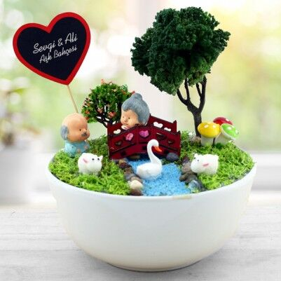 - Kişiye Özel Yaşlansak da Beraberiz Mini Bahçe
