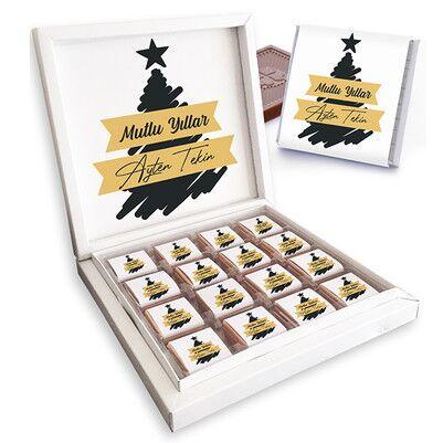 - Kişiye Özel Yeni Yıl Dileğim Çikolata Kutusu