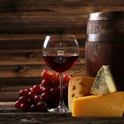 - Kişiye Özel Yılbaşı Şarap Kadehi