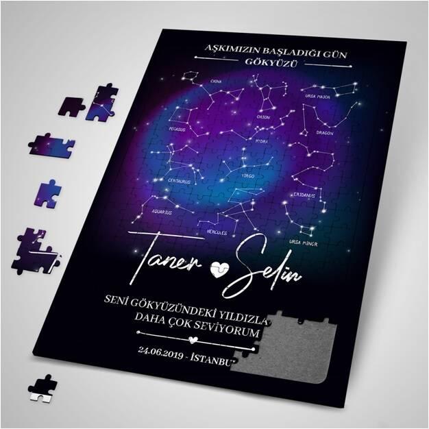 Kişiye Özel Yıldız Haritası Puzzle