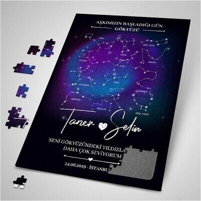 Kişiye Özel Yıldız Haritası Puzzle - Thumbnail
