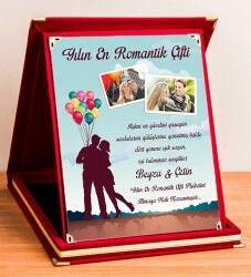 - Kişiye Özel Yılın En Romantik Çifti Plaketi