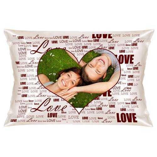 Kişiye Özel Aşk Desenli Fotoğraflı Yastık