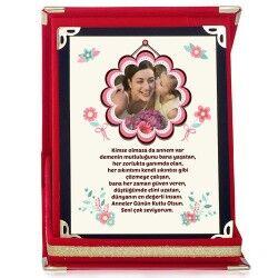 Kişiye Özel Benim Çiçek Annem Plaket - Thumbnail