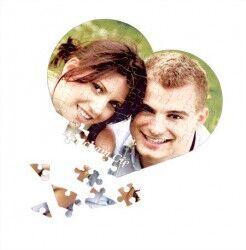 Kişiye Özel Fotoğraflı 99 Parça Kalp Puzzle - Thumbnail