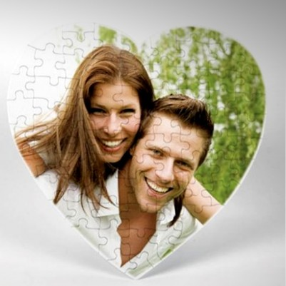 - Kişiye Özel Fotoğraflı 99 Parça Kalp Puzzle