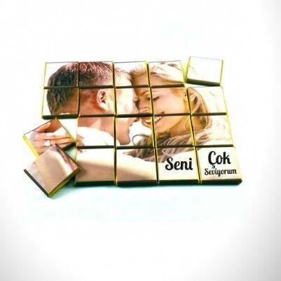 - Kişiye Özel Fotoğraflı Puzzle Çikolata