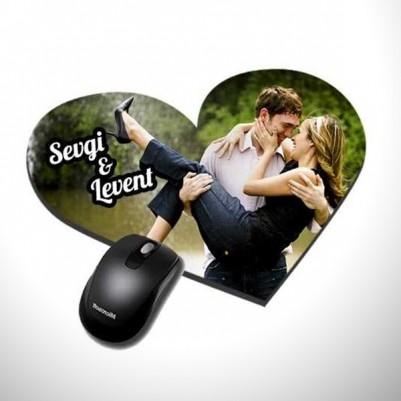 Kişiye Özel Kalp Mouse Pad - Thumbnail