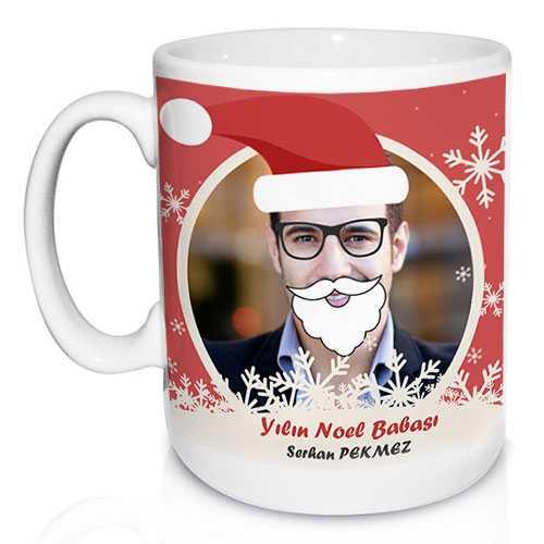 Kişiye Özel Yılbaşı Noel Baba Kupa Hediyesi