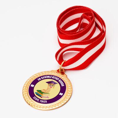 - Kitap Kurdu Kişiye Özel Madalyon
