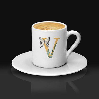 - Kız Arkadaşa Hediye Harfli Kahve Fincanı