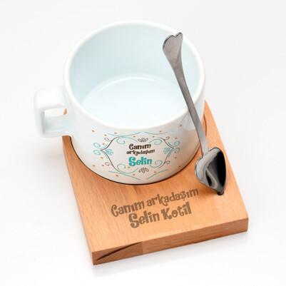 Kız Arkadaşa Hediye Özel Çay Fincanı - Thumbnail