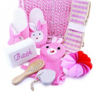 Kız Bebeğe Özel Banyo Hediye Sepeti - Thumbnail