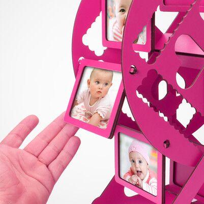 Kız Bebeğe Özel Dönme Dolap Fotoğraf Çerçevesi - Thumbnail