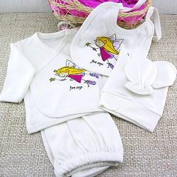 Kız Bebeklere Hastane Çıkışı Hediye Sepeti - Thumbnail