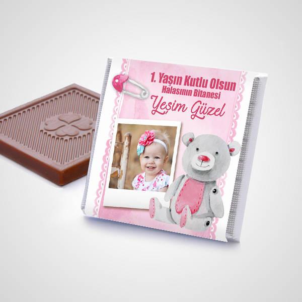 Kız Bebeklere Hediye Çikolata Kutusu