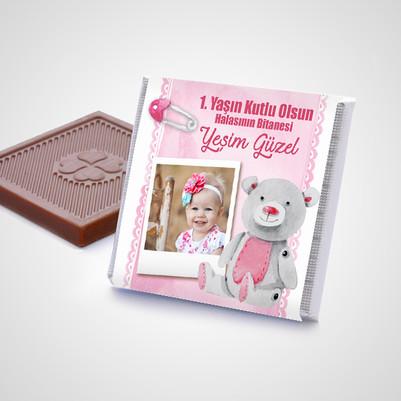 Kız Bebeklere Hediye Çikolata Kutusu - Thumbnail