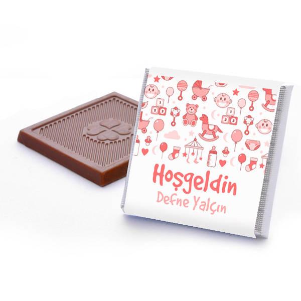 Kız Bebeklere Özel Hoşgeldin Çikolatası