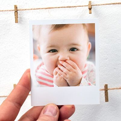Kız Bebeklere Özel Pembe İpli ve Mandallı Çerçeve - Thumbnail