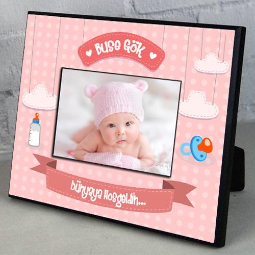 Kız Bebeklere Özel Resim Çerçevesi